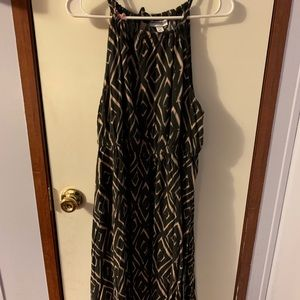 Liz Lange Maternity Black/tan maxi dress